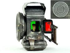 WWI Antique German Bicycle Haeckel's Moon Kerosene Head Lamp Lantern