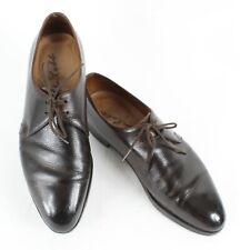 John Lobb Sz 9.5? Dark Brown Pebbled Handmade Perrier? Oxford Dress Shoes 850Z