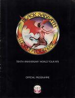 BLACK SABBATH 1978 NEVER SAY DIE TOUR CONCERT PROGRAM BOOK / VAN HALEN / VG 2 EX