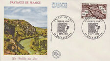 FRANCE FDC - 896 1807 2 VALLEE DU LOT 7 9 1974 - LUXE