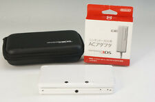 Working Nintendo 3DS Console NTSC-J White CTR-001 Case AC Adapter Bundle 965f11