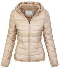 Ladies quilted jacket between-seasons winter hooded D-206