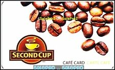SECOND CUP 2009 COFFEE FRESH BEANS #6049 RARE CAFE COLLECTIBLE GIFT CARD
