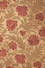 Arts & and Crafts French fabric c1890 printed Indienne design cotton natural
