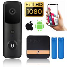 1080P Door Bell WiFi Wireless Video PIR Doorbell Talk Smart Security HD Camera