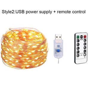 5M50 LED light Copper string fairy garland battery power lamp wedding decoration