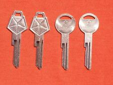 4  CHARGER SUPERBEE CUDA DUSTER MOPAR  NOS KEY BLANKS 69-74