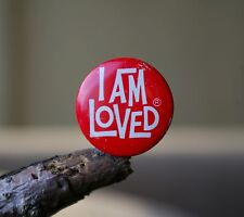 "I Am Loved 1"" Lapel Pin Pinback Valentine Red Metal by Helzberg's Diamond Shop"