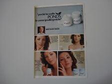 advertising Pubblicità 1977 CREMA POND'S e MARIA ROSARIA OMAGGIO