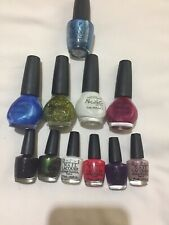 Mix Bundle Of All Brand New 11 OPI/Nicole Nail Lacquer In Several Shades & Sizes