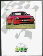 Jaguar Xjr-S 6.0 Coupe Road Test 1990-91 Uk Market Foldout Brochure What Car?