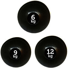 FXR SPORTS SET OF 3 SLAM BALL NO BOUNCE MEDICINE BALLS FITNESS MMA - 6,9,12KG