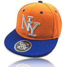 KINDER CAP NY SNAPBACK Baseball Caps Kappe Unisex New York Orange Jungen Mädchen