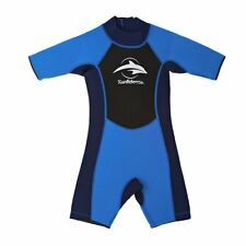 Konfidence Shortty Wetsuit Blue Small 5-6 Years