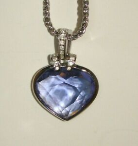 Swarovski Purple Amethyst Heart Pendant Necklace
