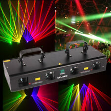 460mW RGYP 11 CANAUX Eclairage DJ Lumière DMX512 Fetes 4 Beam 4 Lens Laser Light