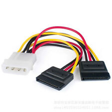 4 Pin IDE Molex to 2 SATA Power Cable Splitter Adapter 1 Male to 2 Female 15 Pin