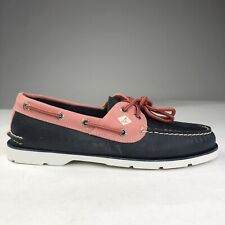 Sperry Top Sider Leeward 2-Eye Boat Deck Moc Toe Navy Pink Shoes Men Size 8-16