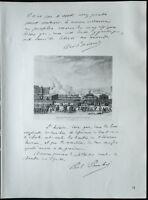 1926 - Litografía De Aristide Briand Y Painlevé (Guerra 14 18)
