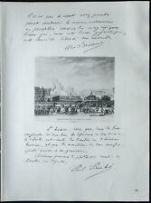 1926 - Lithographie citation de Aristide Briand et Painlevé (Guerre 14 18)