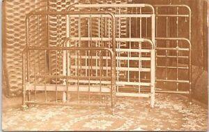RPPC Furniture Advertising Bed Rails Ludington Michigan 1910