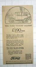 "1925 The Ford ""tudor "" Saloon, £190 From Trafford Park"
