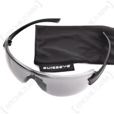 Swiss Eye 'F-22' Glasses - Smoke - Black - Safety Goggles Sun Airsoft Army New