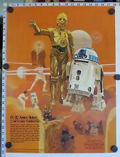 Original R2-D2 / C-3PO Poster - STAR WARS BURGER KING COCA-COLA (1977) - MINT!