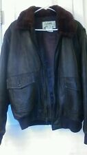 Cabelas Leather Flight Brown Jacket Thermal insulation.