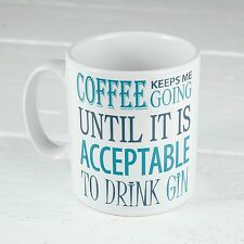 Gin Coffee Keeps Me Going Novelty Mug Novelty Wife Present Birthday Xmas