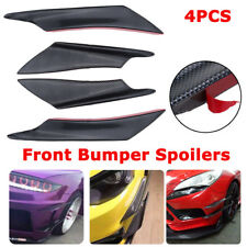 4PCS Universal Front Bumper Lip Splitter Fin Body Spoiler Canards Splitters Trim