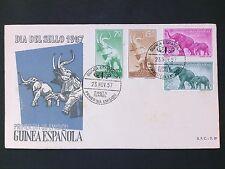 Guinea espanola FDC 1957 fauna los animales elefante elefantes Elephant Elephants d2804