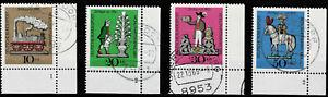Bund MiNr.  604-607 Eckrand unten rechts mit Formnummer gestempelt (LS)