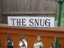 Wooden The Snug sign free standing sign shabby vintage plaque the comfy room