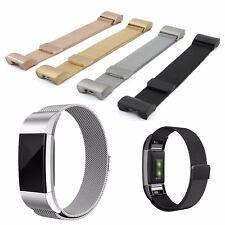 Milanaise Armband Ersatz für Fitbit Charge 2 Fitness Tracker Edelstahl Milanese