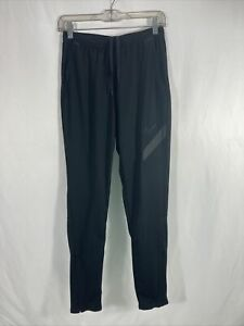 Nike Dri Fit Mens Athletic Running Pants Size Small Black Drawstring Pockets