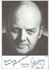Autogramm Peter Hey