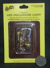 Brass Carriage Lamp Light LED 1:12 Dollhouse Miniature Lighting HW2306