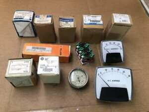 Various Brand Electrical Meters/Switches/Terminals & Connectors -Used/NIB