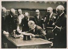 CAEN c. 1930 - Albert Lebrun  Inauguration Hôtel des Postes - PRM 392
