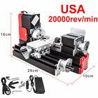 20000r/min Mini Miniature Multifunction DIY Metal Motorized Lathe Machine Set