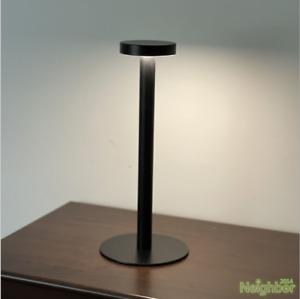 Black White Cordless Bar Table Lamp LED Battery Light Restaurant Bedroom Fixture