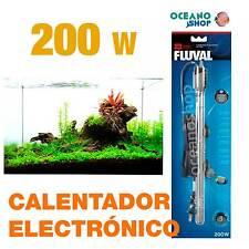 Calentador Electrónico Sumergible Fluval M 200W alta calidad acuario gambario