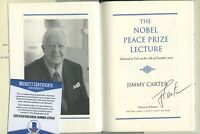 JIMMY CARTER SIGNED AUTOGRAPHED NOBEL PEACE PRIZE BOOK 1/1 BAS BECKETT COA