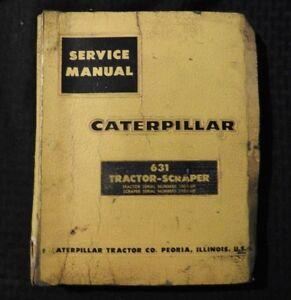 GENUINE 1963 CATERPILLAR 631 TRACTOR SCRAPER SERVICE REPAIR MANUAL 13G1 11G1 UP