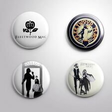 4 FLEETWOOD MAC - Pinbacks Badge Button 25mm 1''