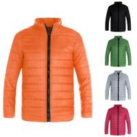 Winter Men Ultralight Cotton Jacket Outdoors Male Warm Windproof Standing collar