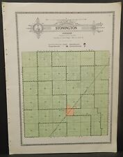 Illinois Christian County Map Stonington Township c1930 W20#20