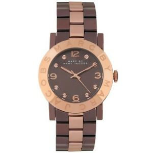 Womens Marc Jacobs MBM3195 Amy Brown Rose Gold Watch RRP £299