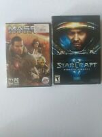 Pc Game Lot Of 2 Star Craft Wings Of Liberty And Mass Effect 2